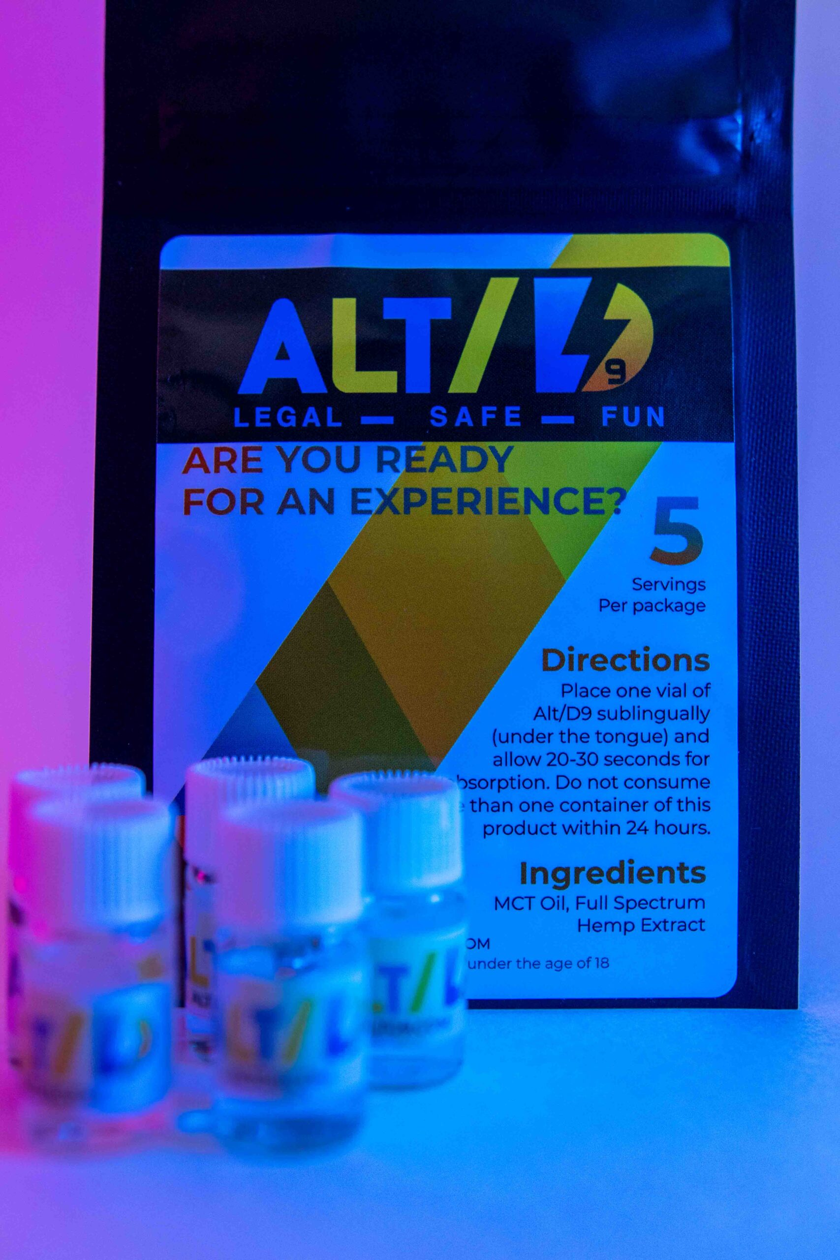 Altd9 - euphoria in a bottle - legal in anywhere that hemp is sold - www.altd9.com